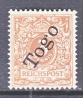 GERMANY TOGO  1 A  * - Colony: Togo