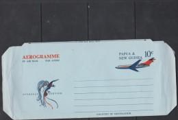 Papua New Guinea 1962 10d Plane Unused Aerogramme - Papua New Guinea