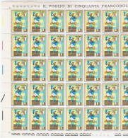 SAN  MARINO:  1971  WALT  DISNEY  -  £. 5  PAPERINO  FOGLIO  DI  50  N. -  SASS. 818 - Hojas Bloque