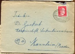 67549 - ALLEMAGNE  - 1 TP Cad Ambulant STRASSBURG MULHAUSEN/BAHNPOST 8 1944 TB - Marcophilie (Lettres)