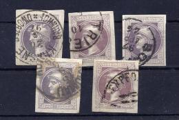 Zeitungsmarke Mi. Nr. 42 II, Nettes Lot Gestempelt - 1850-1918 Imperium