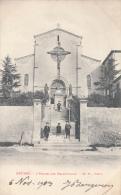 Thematiques 34 Hérault Béziers L'Eglise Des Franciscains Ecrite Timbrée 1903 - Churches & Cathedrals