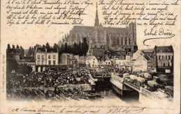 - FRANCE (80) - CPA Ayant Voyagé AMIENS 1902 - Cathédrale, Côté Nord - Le Marché Sur L´eau - Photo-Edition Caron N° 88 - - Amiens