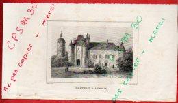 Eaux Fortes - CHATEAU D' AUNEAU - 28 Eure Et Loir - Rauch Del. / Schroeder Sc. - Prints & Engravings