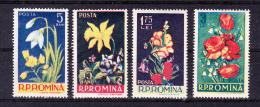 ROMANIA  1956, Flowers  , Y&T   #   1469/2  , Cv  22.00 E  , ** , M N H , V V F - Nuovi