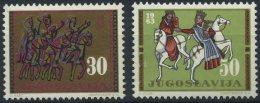Yugoslavia 1963 - The Art In Yugoslavia Through The Centuries -  MNH Michel 1058-1059 (value 0,4 EUR!!!) - 1945-1992 Socialist Federal Republic Of Yugoslavia