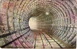 Cpa USA Portion D'un Tunnel De Chemin De Fer Sous L'hudson River New Work  (24.08) - Structures