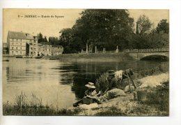 16-082 JARNAC Lavandiere Et Fillette Entrée Du Square 1916 écrite  /D21 -2013 - Jarnac