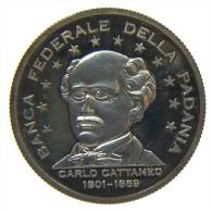 ITALIA PADANIA LEGA NORD 50 LEGHE ARGENTO 999 15 Gr. - Italia