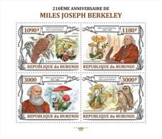 BURUNDI 2013 - M.J. Berkeley, Mushrooms. Official Issue - Pilze