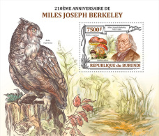 BURUNDI 2013 - M.J. Berkeley, Mushrooms S/S. Official Issue - Pilze