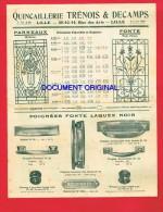 LILLE - TRÉNOIS & DECAMPS 40-42-44 Rue Des Arts - Quincaillerie ..... - Advertising