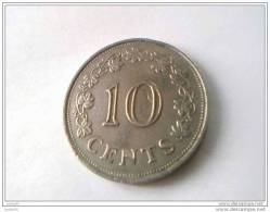 Monnaie - Malte - 10 Cents 1972 - - Malte