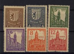 West Sachsen Michel No. 156 - 161 Y ** postfrisch / No. 161 Zahnfehler