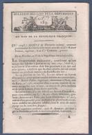 BULLETIN DES LOIS DE LA REPUBLIQUE AN VI - BREVETS D'INVENTION - CORSE - VOSGES EVEQUE MAUDRU - AIX EN OTHE - CONDRIEUX - Décrets & Lois