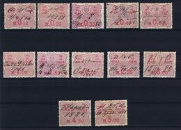 Deutsches Reich:  Wechsel-Stempel Marken , Tax / Revenues Stamps,