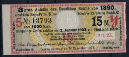 Deutsches Reich Anleihe Des Deutschen Reichs Von 1890, 1921