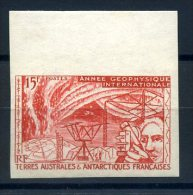 TERRES AUSTRALES 1957 N° 10** MNH  ROUGE AU LIEU DE BLEU NON DENTELE - Ungebraucht