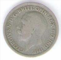 GRAN BRETAGNA SIX PENCE 1928 AG SILVER - 1902-1971 : Monete Post-Vittoriane