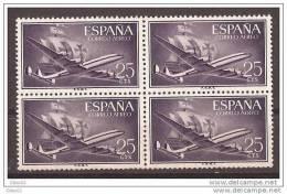 ES1170-LA313.Spain Espagne SUPER-CONSTELLATION Y NAO SANTA MARIA 1955/56.(Ed.1170**)sin Charnela LUJO  BLOQUE DE 4 - 1951-60 Nuevos & Fijasellos