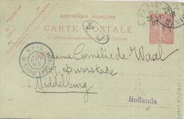 Middelburg, Briefkaart Uit Parijs (bibliotheek) Leuk Poststuk Uit 1907  (2 X Scan) Mode Pratique Dwarskade Middelburg - Marcophilie