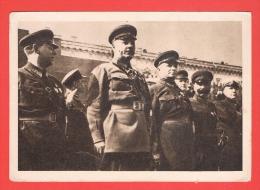 Mitglieder Des Revolutionären Kriegsrates Mit Gén.Woroschiloff An Der Spitze 1932 - Russie