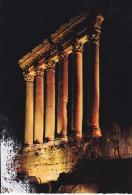 Libano--Las Seis Colunnas Del Templo De Jupiter, Iluminadas Durante El Festival De, Baalbek--Air Mail--a, Paris, Francia - Líbano