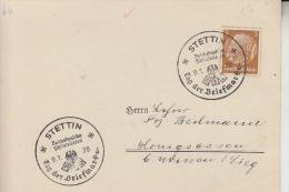 POMMERN - STETTIN / Szczecin - Postgeschichte, Sonderstempel Tag Der Briefmarke  1938 - Pommern