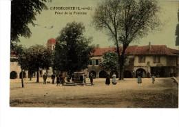 47----CAUDECOSTE---place De La Fontaine---voir 2 Scans - Autres Communes