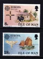 GB ISLE OF MAN IOM - 1981 EUROPA SET (2V) FINE MNH ** SG 195-196 - Isle Of Man