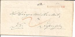 Bad071/ Baden -  Ladenburg, Einzeiler In Rot 1846 - Duitsland