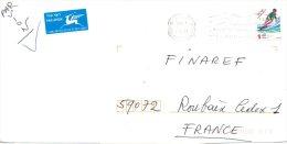 ISRAËL. N°1393 De 1998 Sur Enveloppe Ayant Circulé. Ski Nautique. - Water-skiing