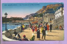 MONTE CARLO - Les Terrasses Et La Tête De Chien - Animée - Las Terrazas