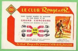 BUVARD LE CLUB ROUGE ET OR  (LILOU 12) - Buvards, Protège-cahiers Illustrés