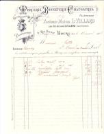 FACTURE  - BOURG -AIN - ANCIENNE MAISON VILLARD - ANNEE 1907 - 1800 – 1899
