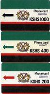 @+ Kenya - Lot De 3 Cartes (sans Encoche) - Kenya