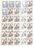 78799) Bollettino Nota Delle Tassate Giunte All' Enel Con 2x100£+ 29x1000£ Castelli+5x5000£a.valori+50£ Segnatasse - 6. 1946-.. Repubblica
