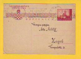 Postcard - Croatia, NDH, Flam   (V 20641) - Croazia