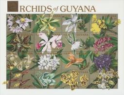 B022 Guyana 1990 Orchids of Guyana s/s