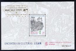 MACAO CHINE BF087B Surcharge Amitié Lusitano-chinoise Sur Rencontre De Cultures - 1999-... Région Administrative Chinoise