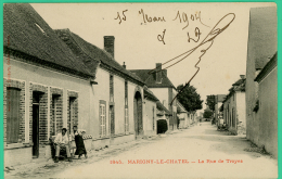 Marigny Le Chatel  -  Aube -  Rue De Troyes - Animée - Nogent-sur-Seine