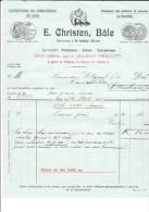 BALE .- E.CHRISTEN, St. BUDWIG  Spécialité Poissons-Gibier-Conserves . - Switzerland