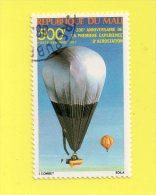 REP. DU MALI ,,, 200é  ANNIVERSAIRE PREMIERE EXPERIENCE D'AEROSTATION  ,,, **  500 F. ** ,, POSTE 1983 ,, PA. ,,TBE - Mali (1959-...)