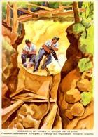 GUE-L48 - Carte Illustrée De L´Armée Suisse 1939/40 - NOS SOLDATS A L´OEUVRE - Creusage D´un Emplacement - Documents
