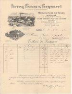 59 LILLE FACTURE 1912 Manufacture De TOILES  LEROY Frères & REYNAERT    * B9 - France
