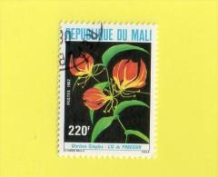 REP. DU MALI ,,,  LIS  DE  POBEGUIN ,,, **  220  F. ** ,, POSTE 1982 ,,, TBE - Mali (1959-...)