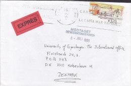 Spain EXPRÉS Label MADRID 1999 Cover Letra To Denmark ATM Frama Label (2 Scans) - Poststempel - Freistempel