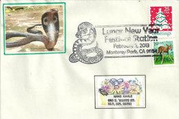 USA. Année Du Serpent 2013, Monterey Park, Californie,  Enveloppe Souvenir - Nouvel An Chinois