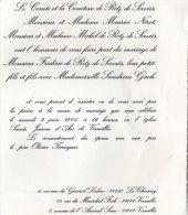 VP711 - VERSAILLES - Mariage De Mr F. DE RETZ X S. GACH / CHEVREUSE / LE CHESNAY / LESIGNAN / CHATOU - Wedding