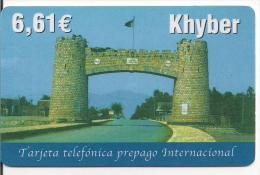 TARJETA PREPAGO KHYBER 6,61 EUROS - Espagne